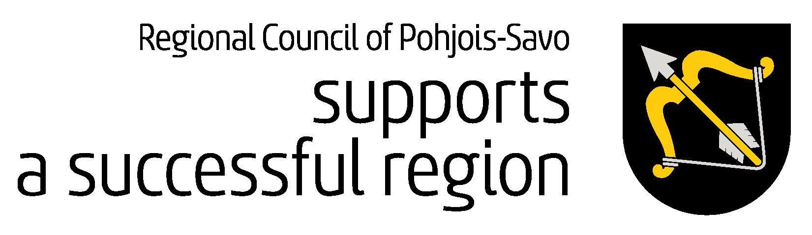 the Regional Council of Pohjois Savo supports a successful region logo